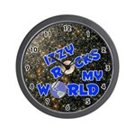 Izzy Rocks My World (Blue) Wall Clock