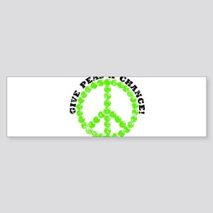 Peas a Chance (Distressed) Bumper Sticker