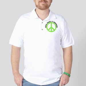 Peas a Chance (Distressed) Golf Shirt