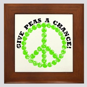 Peas a Chance (Distressed) Framed Tile