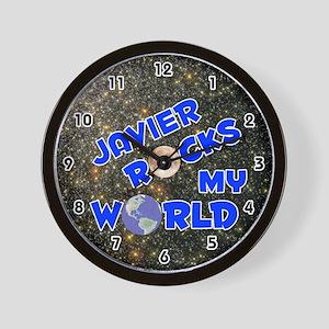Javier Rocks My World (Blue) Wall Clock