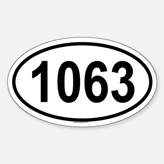 1063 Oval Decal