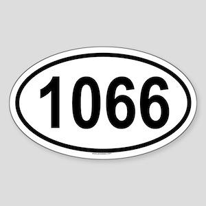1066 Oval Sticker