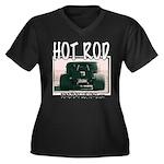 Nasty Hot Rod Women's Plus Size V-Neck Dark T-Shir