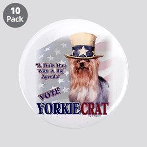 """YORKIEcrat 3.5"""" Button (10 pack)"""