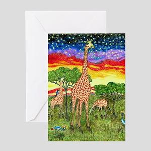 Girdners Nature of Giraffes Greeting Cards