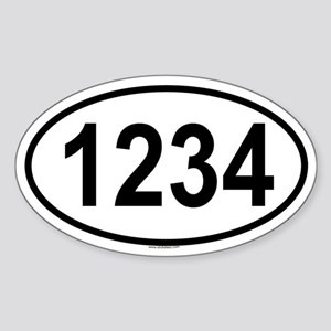 1234 Oval Sticker