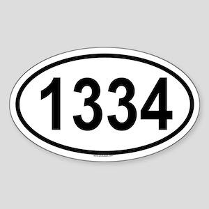 1334 Oval Sticker