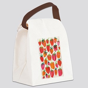 STRAWBERRY FIELDS Canvas Lunch Bag