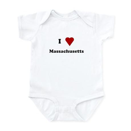 I Love Massachusetts Infant Bodysuit