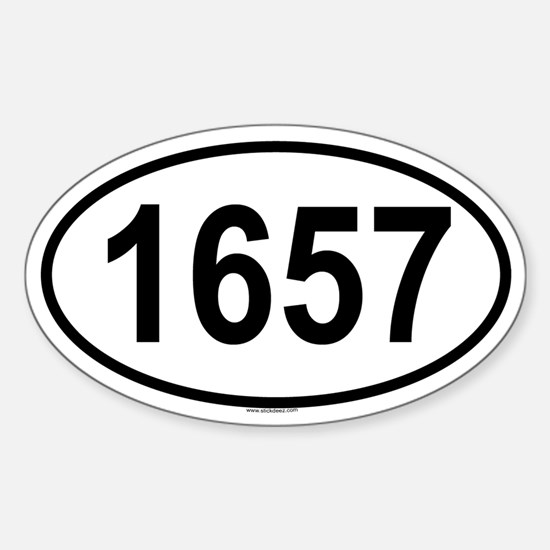 1657 Oval Decal