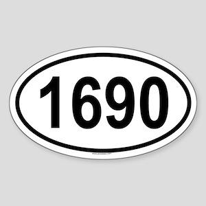 1690 Oval Sticker