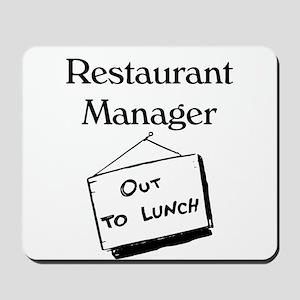 Restaurant Manager Mousepad