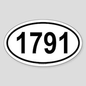 1791 Oval Sticker