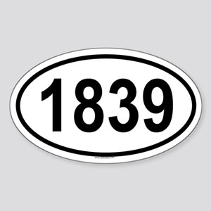 1839 Oval Sticker