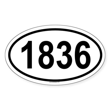 1836 Oval Sticker