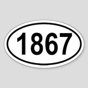 1867 Oval Sticker