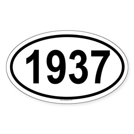 1937 Oval Sticker