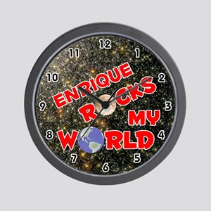 Enrique Rocks My World (Red) Wall Clock