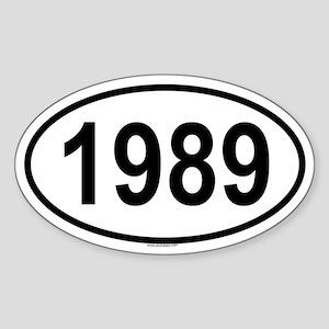 1989 Oval Sticker