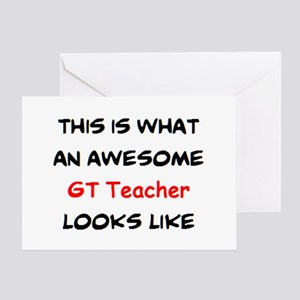 awesome gt teacher Greeting Card