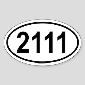 2111 Oval Sticker