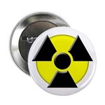 3D Radioactive Symbol Button