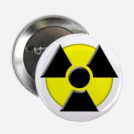 3D Radioactive Symbol Button