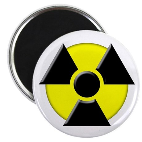 3D Radioactive Symbol Magnet