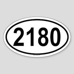 2180 Oval Sticker