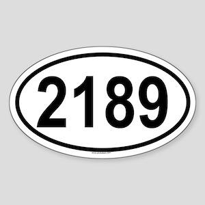 2189 Oval Sticker