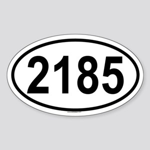 2185 Oval Sticker