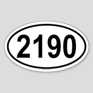 2190 Oval Sticker