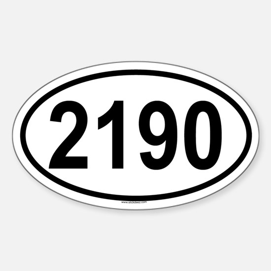 2190 Oval Decal