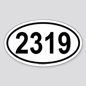 2319 Oval Sticker