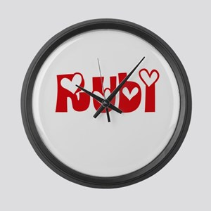 Rubi Love Design Large Wall Clock