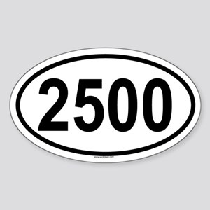 2500 Oval Sticker