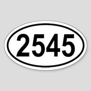 2545 Oval Sticker