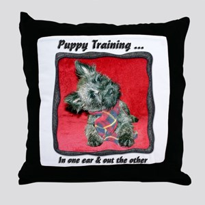 Puppy Training Throw Pillow
