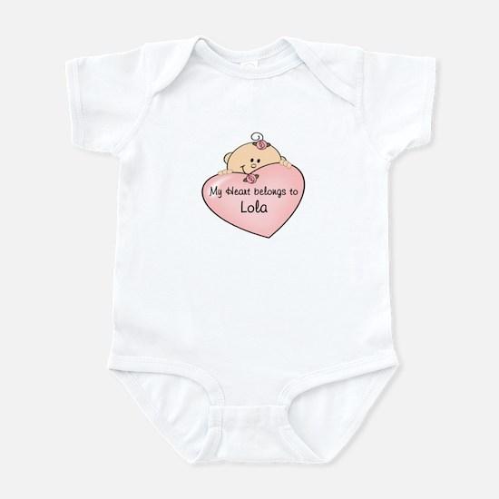 Heart Belongs to Lola Infant Bodysuit