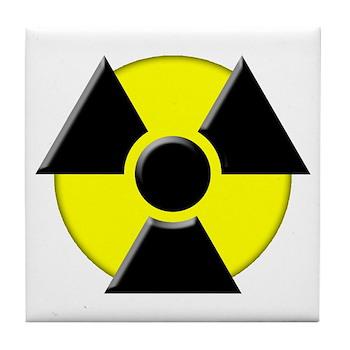 3D Radioactive Symbol Tile Coaster