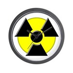 3D Radioactive Symbol Wall Clock