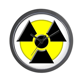 3D Radioactive Symbol Wall Clock