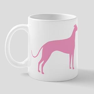 Pink Greyhound Mug