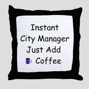 City Manager Throw Pillow