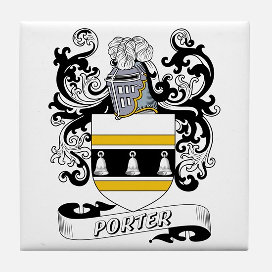 Porter Coat of Arms Tile Coaster