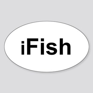 iFish Oval Sticker