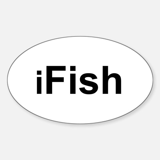 iFish Oval Decal