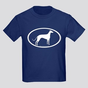 Greyhound Oval Kids Dark T-Shirt