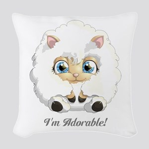 Personalized Adorable Little Woven Throw Pillow